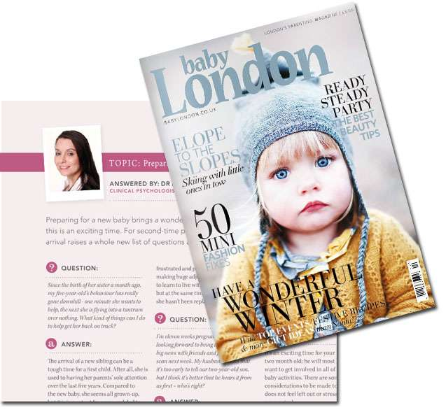 Dr Johnson Clinical Psychologist featured in BabyLondon Magazine